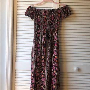 Side-slit maxi dress